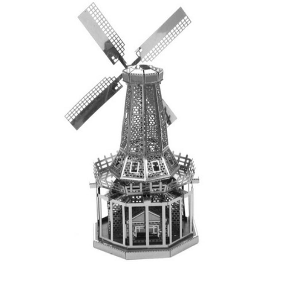 XEM VIDEO – Đồ chơi lắp ghép mô hình 3D bằng thép ngôi nhà cối xay gió 04