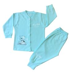 Quần áo trẻ em – Bộ quần áo cotton 4 chiều Màu Xanh Ngọc cao cấp Thái Hà Thịnh ( Hàng xưởng may Việt Nam)