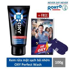 Kem rửa mặt rửa sạch bã nhờn ngừa khuẩn mụn cho nam Oxy Perfect Wash 100g