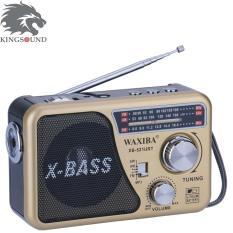 ĐÀI RADIO CHẠY USB NGHE NHẠC WAXIBA XB-521-Tặng pin chất lượng