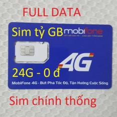 Sim mobifone 4G Full DATA tỷ GB(24G-07)QC-chuẩn