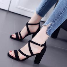 Giày cao gót mẫu mới đan chéo cao cấp