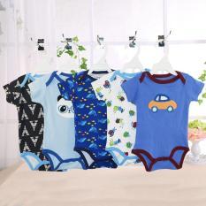 Đồ trẻ em (Áo liền quần) set 5 bộ body ngắn tay bé trai sơ sinh đến 18M