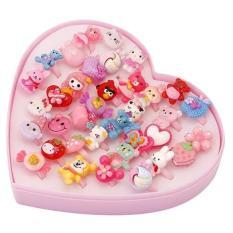 Bộ 5 chiếc nhẫn nhựa an toàn cho bé kèm hộp