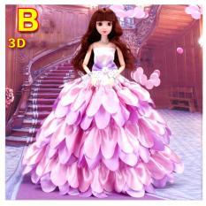 Búp Bê Công Chúa Xinh Đẹp Váy Cánh Hoa Tặng Phụ Kiện 08 Món + 3 Váy Ngắn
