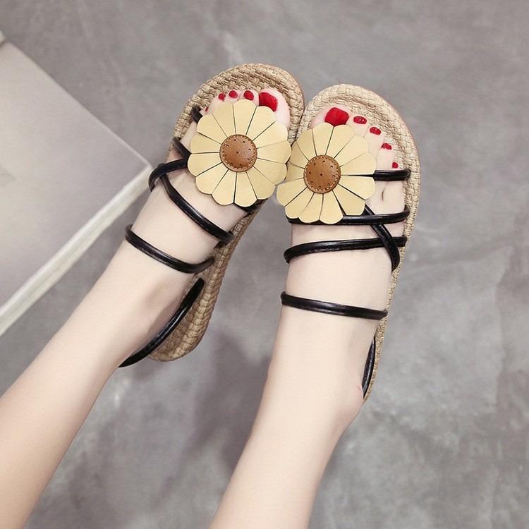 Giày Sandal Nữ đính hoa dạo biển – XS0490