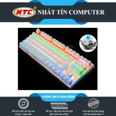 Bàn Phím Cơ Game Thủ NTC K28 87K – Đèn Led 10 Chế Độ (Trắng) + Tặng kèm đế kê tay nhựa