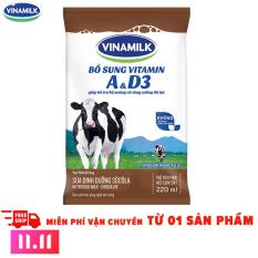 11.11 Deal độc quyền – Thùng 48 Bịch Sữa tiệt trùng Vinamilk sôcôla 220ml