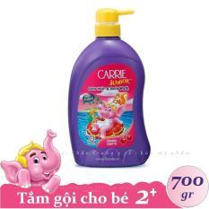 CARRIE JUNIOR – Tắm gội toàn thân cho bé hương Cherry 700 gr