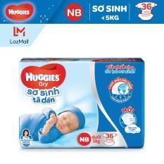 Tã dán sơ sinh Huggies 36 miếng (Cho bé dưới 5kg)