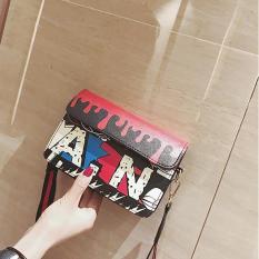 Túi xách vuông nhỏ họa tiết sắc màu 2018