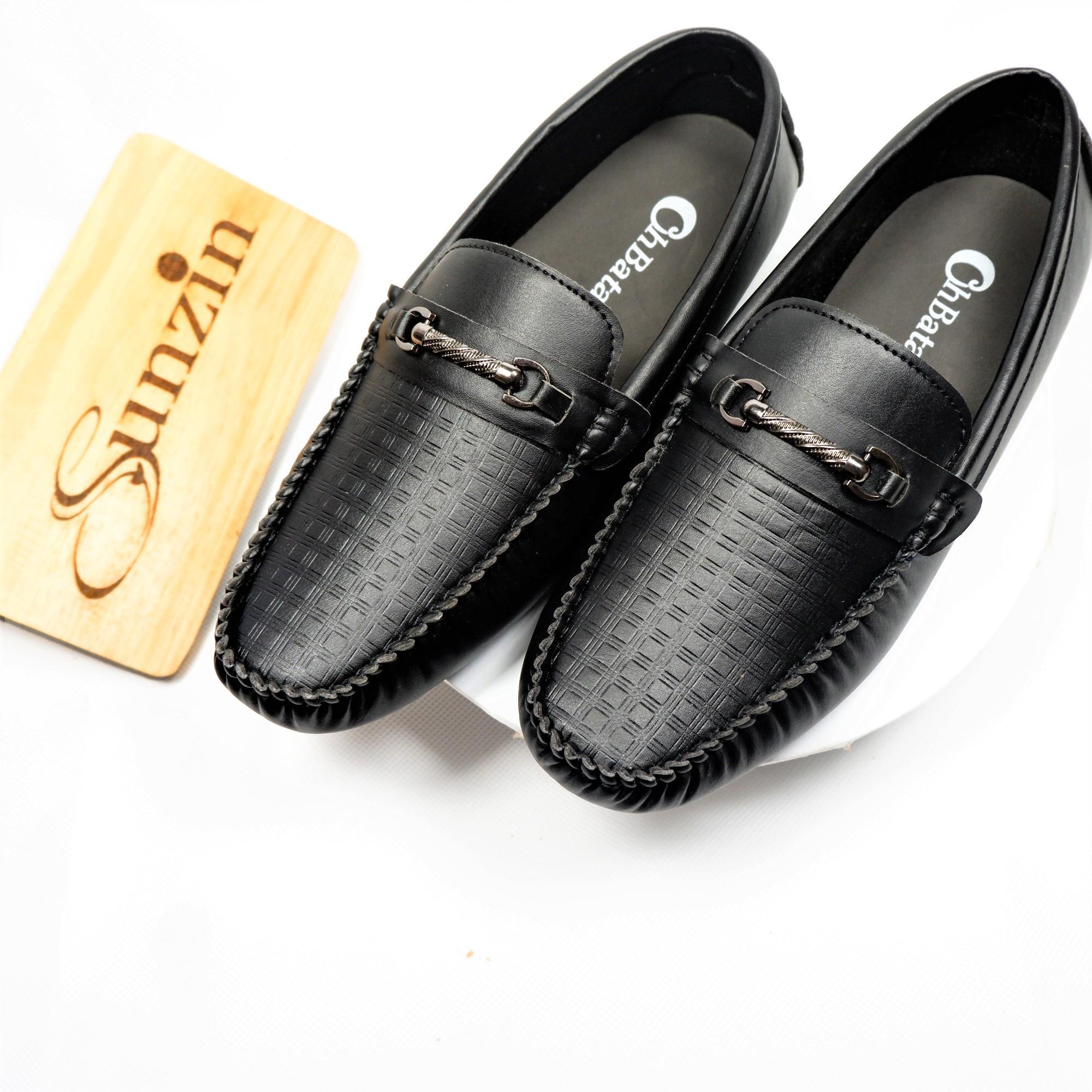 Sunzin.HCM Free từ 99k-Giày da không dây kiểu giày lười VÂN SẦN - Giày nam VL160Sần - Giày da PU...