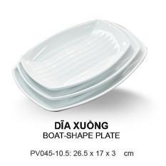 Dĩa nhựa kiểu xuồng hình oval cao cấp 26.5*17cm SRITHAI SUPERWARE PV045-10.5 W