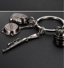 Combo 4 móc khóa PUBG mini – Chảo mũ giáp K98
