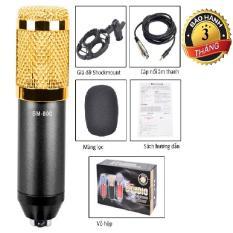 Micro Thu Âm BM800 kèm Giá đỡ Sockmount , Cáp âm thanh, bông lọc mic