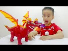 Đồ chơi khủng long đẻ trứng có đèn nhạc cho bé, khung long de trung co den nhac, DO CHOI KHUNG LONG DE TRUNG