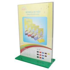 Kệ Mica thực đơn nhỏ 1/3 A4 – Đế lùa nhiều màu E09 (KT:10 x 20cm)