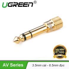 Đầu jack chuyển đổi âm thanh từ cổng 3.5mm cái sang cổng 6.5mm đực chính hãng UGREEN 20503 – Hãng phân phối chính thức