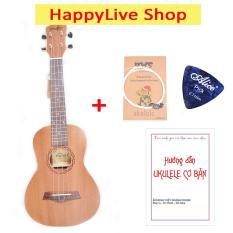 Đàn Ukulele Concert Music gỗ nguyên tấm tặng Sách học + Bộ dây dự phòng + Phím gảy – HappyLive Shop