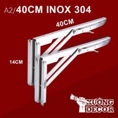 Bộ bản lề gập treo tường a2 40cm INOX 304 bộ 2 chiếc chịu tải 50kg-70kg
