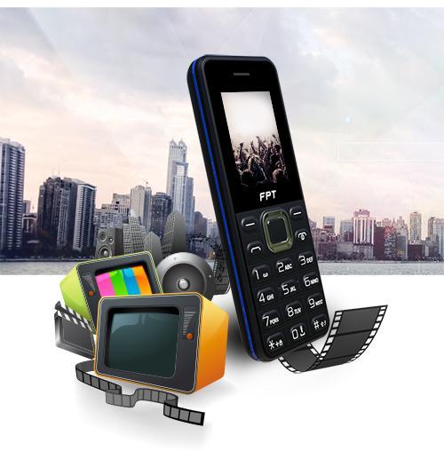 Điện thoại FPT BUK B125 màn hình màu chữ to nghe FM không cần tai nghe 2 sim nghe nhạc MP3 bảo hành 12 tháng chính hãng