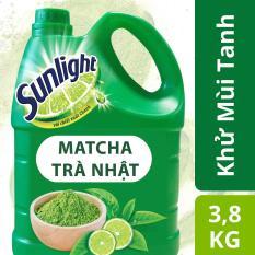 Nước rửa chén Sunlight Trà Nhật chai 3.8kg