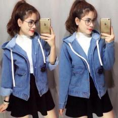 Áo Khoác Jeans Nữ Có Nón Cao Cấp OHS5009-10