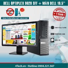 Máy tính đồng bộ Dell Optiplex 9020 SFF core i7 4790(3.6GHz up to 4.0GHz ), Ram 8 GB, HDD 1TB, Màn hình Dell 19.5inch – Hàng nhập khẩu.