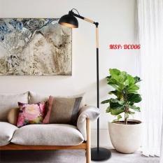 Đèn sàn trang trí phòng khách cao cấp vintage kèm bóng LED