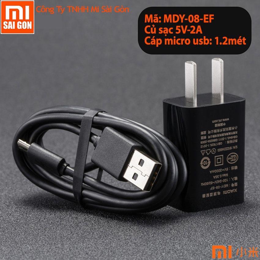 Củ Sạc Xiaomi 5V-2A + Cáp micro usb 1.2 Mét – Hàng Nhập Khẩu
