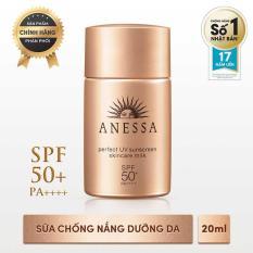 Sữa chống nắng bảo vệ hoàn hảo Anessa Perfect UV Sunscreen Skincare Milk – SPF 50+, PA++++ – 20ml