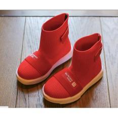 Giày boot thể thao nam nữ trẻ em vải thời trang cao cấp siêu mềm siêu nhe 2 màu đen ,trắng