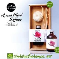 Tinh dầu cắm que gỗ Phutawan Thái Lan hương Hoa sakura