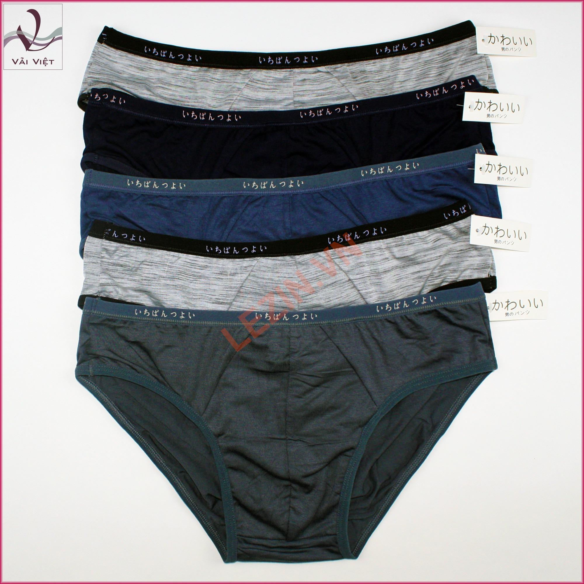 Bộ 5 quần lót nam xuất Nhật chất mát (Vải Việt Shop)