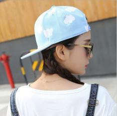 Nón (mũ) snapback lưỡi trai nữ chất liệu cao cấp mầu xanh mây trắng (SB27)