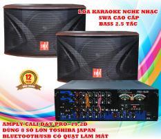 Combo dàn karaoke gia đình, Amply Bluetooth Cali.D&Y 8 Sò Lớn và Loa SWA Bass 2.5 Tấc