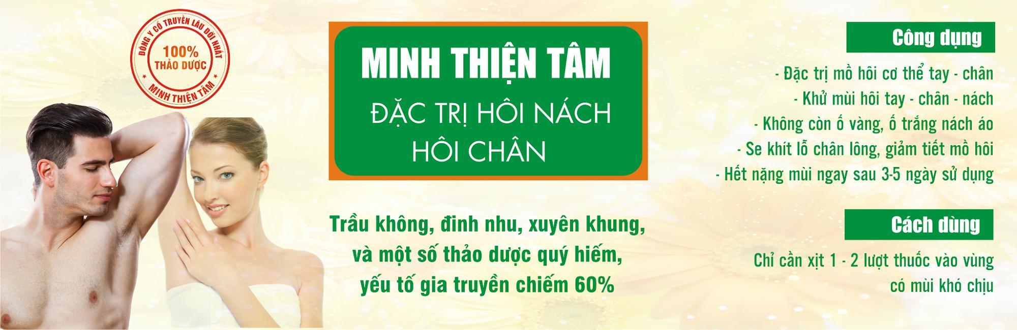 Đặc Trị Xịt Khử Mùi Hôi Nách – Hôi Chân( Nhà thuốc Minh Tâm )
