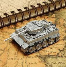 Mô hình kim loại láp ghép lắp ráp trang trí trưng bày 3D Xe Tiger Tank bằng thép không gỉ (Tặng dụng cụ lắp ghép khi mua 2 bộ bất kỳ)