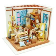Mô hình nhà gỗ nhà búp bê Tiệm may Robotime DiyMiniture