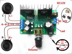 Mạch Khuếch Đại âm thanh TDA2030A 18Wx2 TỰ HÀN RÁP