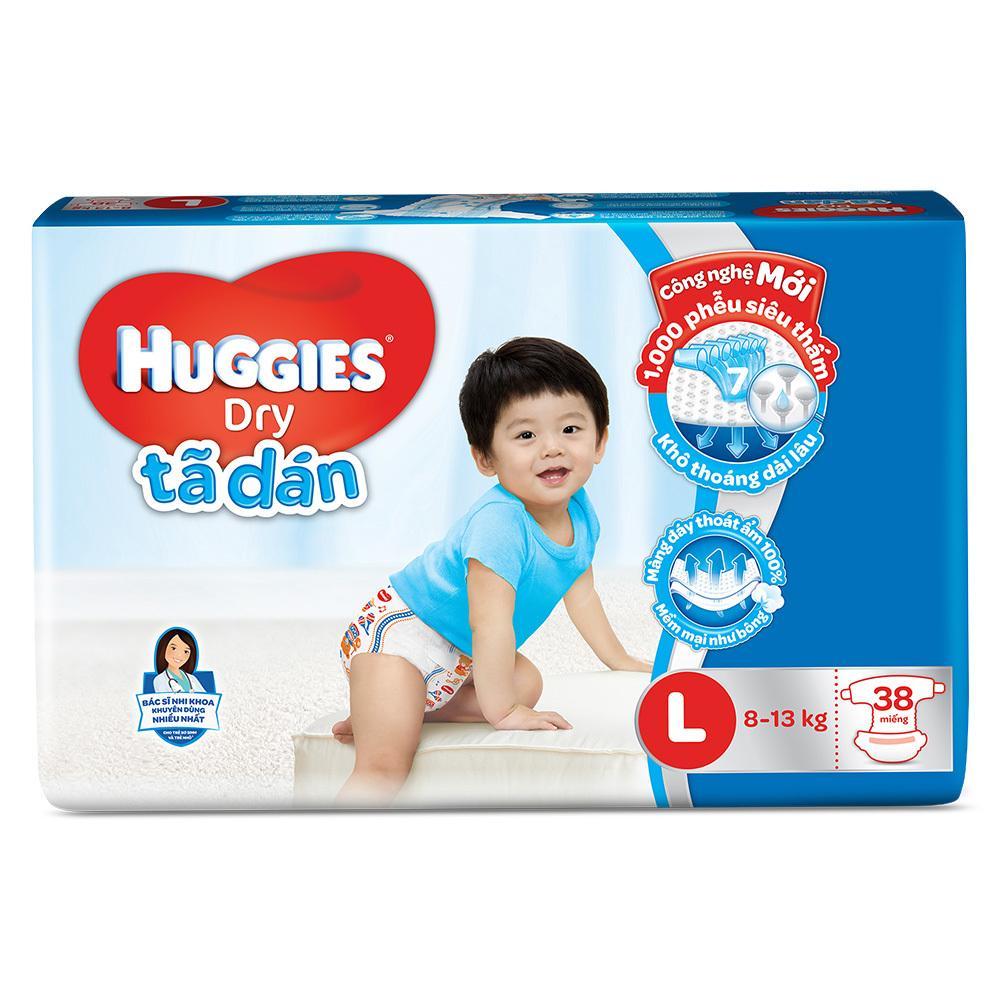 Tã dán Huggies Size L 38 miếng