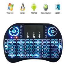 Bàn phím kiêm chuột bay UKB500 PRO, có đèn Led nền (Đen) Dành cho Android TV box, Smart TV, Laptop