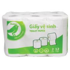 Giấy vệ sinh Auchan lốc 12 cuộn 2 lớp