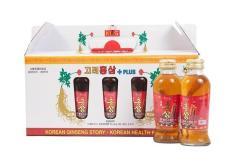 Nước hồng sâm có củ KGS Hàn Quốc (10 chai x 120ml)