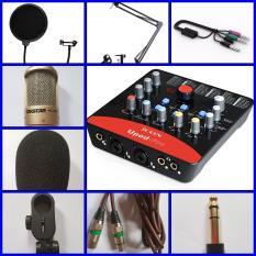 Bộ Combo Thu Âm PC k200 + Sound Icon upod nano pro + kẹp + lọc + dây live