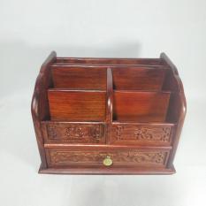 Gía đựng bút, đựng sổ ghi nhớ và đồ văn phòng nhỏ bằng gỗ