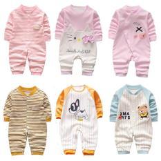 Combo 3 bộ body cotton liền quần, body dài tay bé Trai/Gái (Sleepsuit Hàng Quảng Châu xuất Hàn)