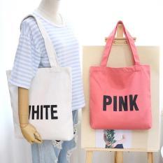 Túi tote canvas đeo vai thời trang Hàn Quốc – The Hills TT03 (Nhiều Màu)