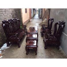 Bộ bàn ghế tựa cổ minh đào gỗ tràm lõi