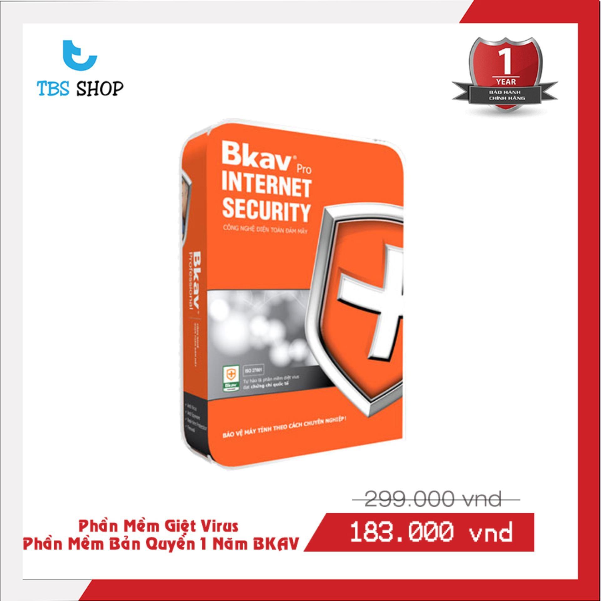 Nên mua Phần mềm diệt virut Bkav Pro Internet Security ở TBSShop